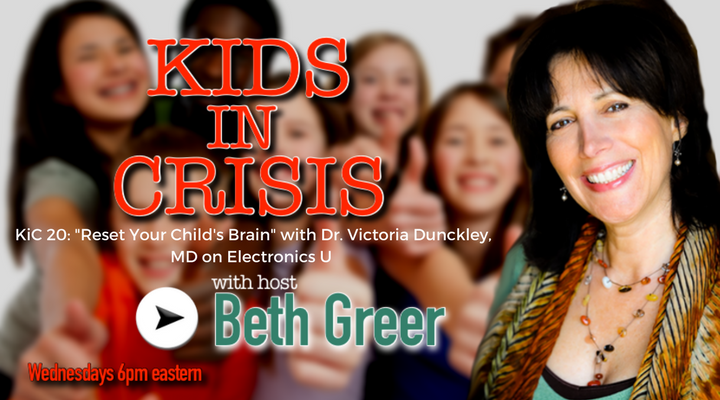 Image: KiC 120: Beth Greer interviews psychiatrist Victoria Dunckley MD on Reset Your Child's Brain, on the effects of electronics use and screen time on the developing child's brain.