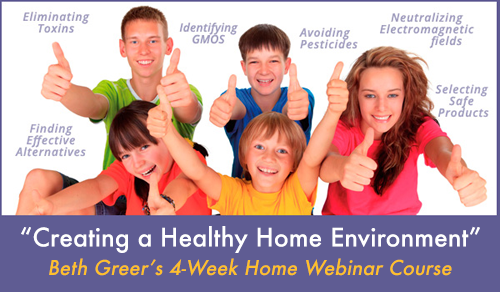 "Beth Greer's ""Creating a Healthy Home Environment"" 4-Week Home Webinar Course"
