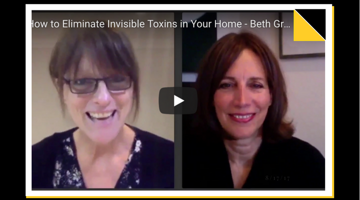 Beth Greer (r), aka the Super Natural Mom® speaks with Nicki Williams (r) about eliminating invisible toxins in your home