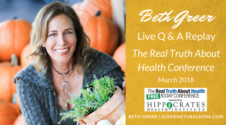 "LIve Q&A with Beth Greer [Replay] on ""How to Avoid Harmful Toxins, Help Your Body Heal and Have More Energy"" 