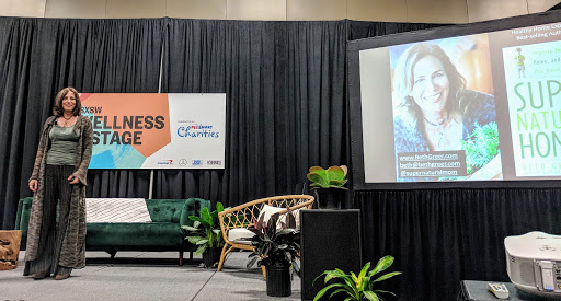 Image: Environmental Health Speaker Beth Greer presenting at SXSW 2018: Hidden in Plain Sight: Toxins in Homes that Impact Health