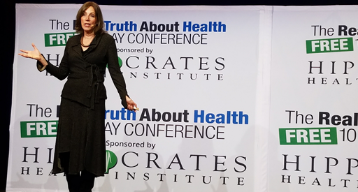 Image: Environmental Health Speaker Beth Greer presenting at The Real Truth About Health Conference 2018 in New York on Hidden in Plain Sight: Revealing the Invisible Toxins in Our Homes that Wreak Havoc on Our Immune Systems