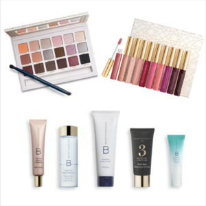 Beautycounter.com cosmetics, including makeup, eye shadow, lip gloss and a selection of skin care and cosmetics.