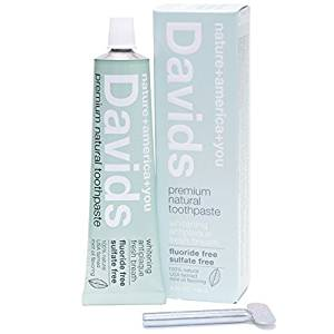 David's Natural Toothpaste recommended by Beth Greer