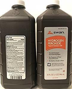 Two bottles of Hydrogen Peroxide